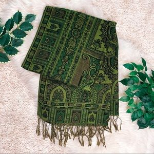 Boho Forest Green Pashmina